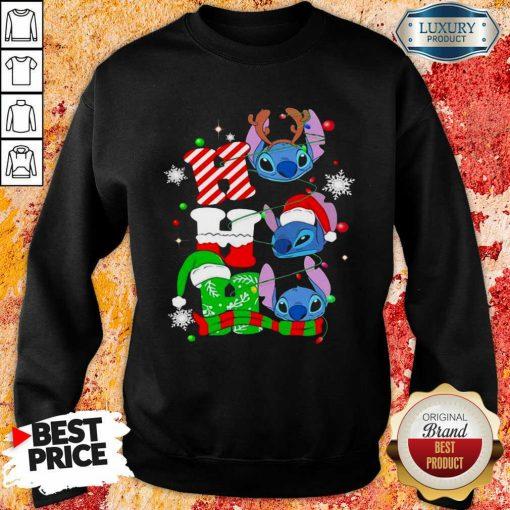 Ho Ho Ho Stitch Reindeer Elf Santa Xmas Sweatshirt-Design By Soyatees.com