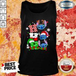 Ho Ho Ho Stitch Reindeer Elf Santa Xmas Tank Top-Design By Soyatees.com