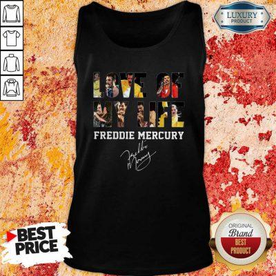 Love Of My Life Freddie Mercury Signature Tank Top-Design By Soyatees.com