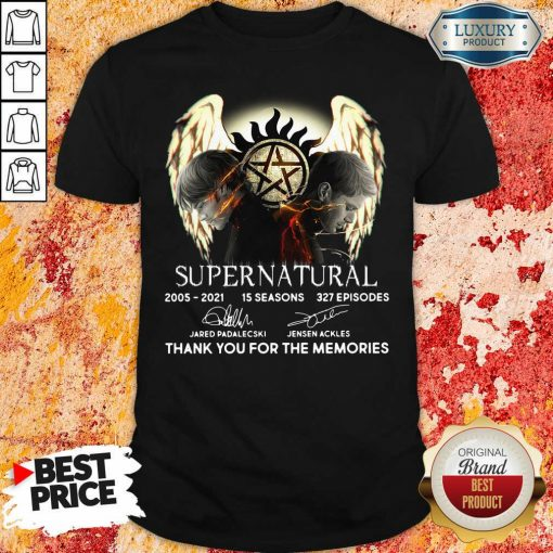Supernatural 15 Seasons 327 Episodes Thank You For The Memories Signatures Shirt-Design By Soyatees.com