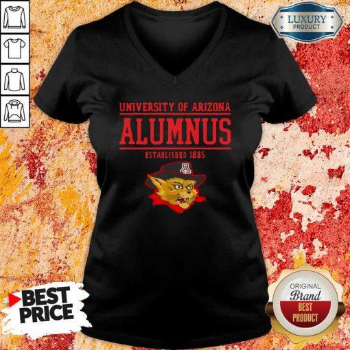 University Of Arizona Alumnus Established 1885 V-neck-Design By Soyatees.com