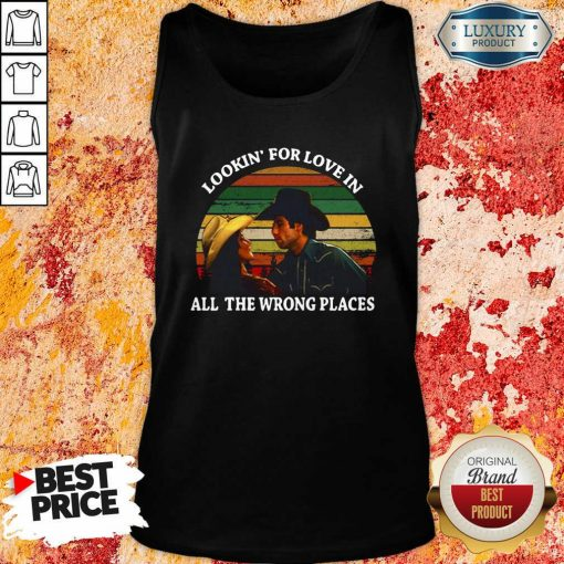 Looking For Love In All The Wrong Places Music Top Vintage Tank Top-Design By Soyatees.com