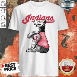 Tattoo Cat I Love Cleveland Indians Shirt-Design By Soyatees.com