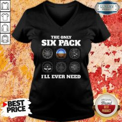 The Only Six Pack I'Ll Ever Need V-neck-Design By Soyatees.com