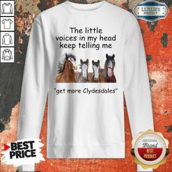 The Little Voices In My Head Keep Telling Me Get More Clydesdales - Desisn By Soyatees.com Horses Sweatshirt