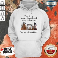 The Little Voices In My Head Keep Telling Me Get More Clydesdales Horses Hoodie - Desisn By Soyatees.com