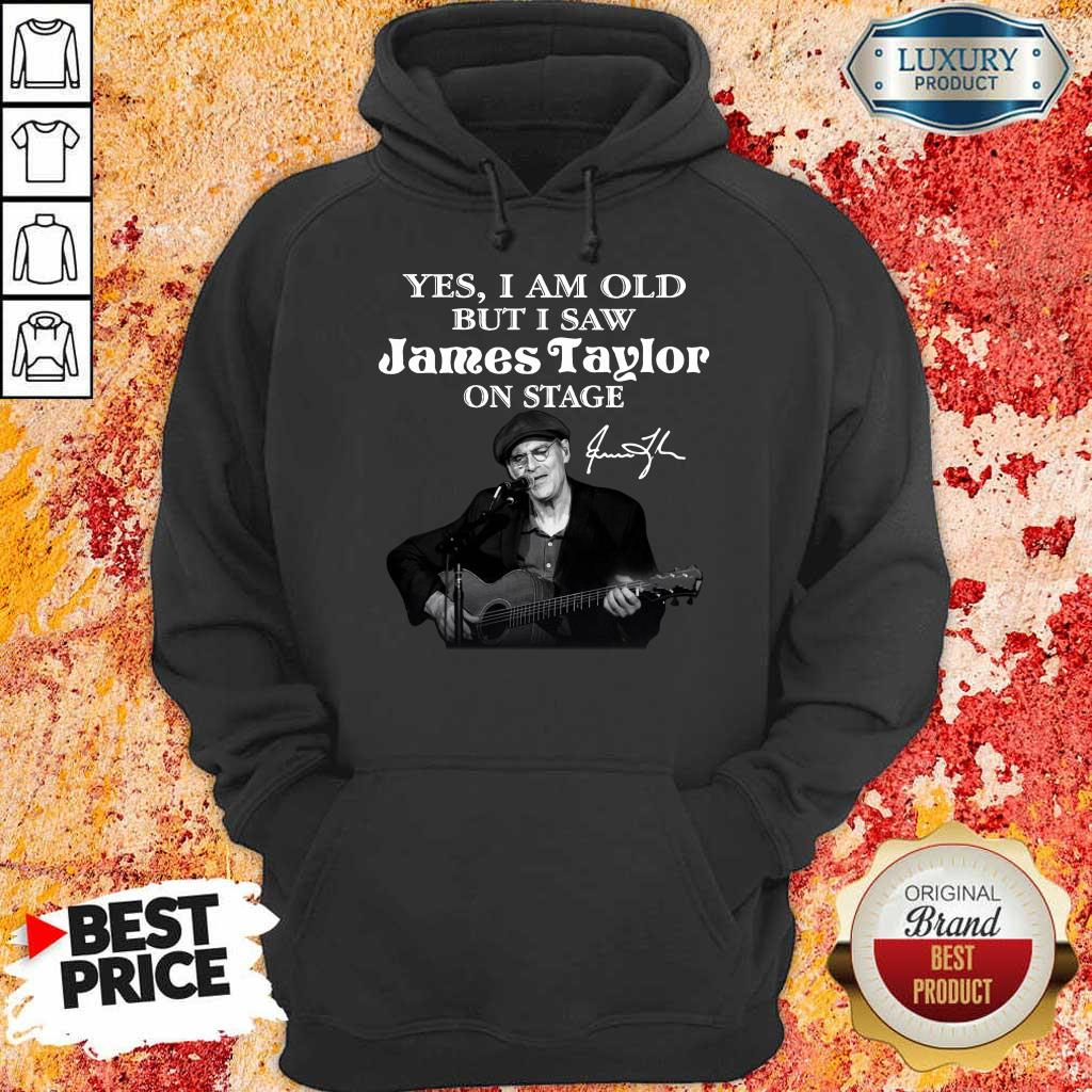 Amused 1 James Taylor On Stage Signature Hoodie