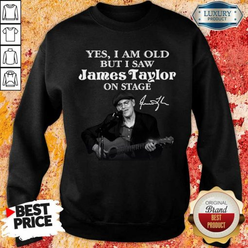 Amused 1 James Taylor On Stage Signature Sweatshirt