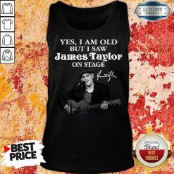Amused 1 James Taylor On Stage Signature Tank Top