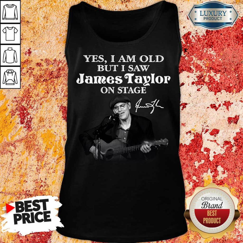 Amused 1 James Taylor On Stage Signature Tank Top
