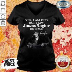 Amused 1 James Taylor On Stage Signature V-neck