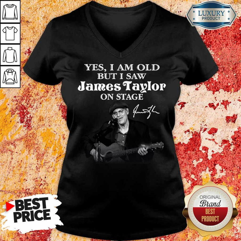 Amused 1 James Taylor On Stage Signature V-neck