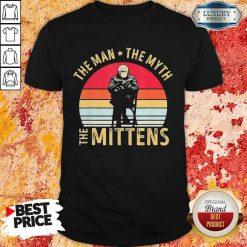 Amused Bernie Sanders Meme The Man 8 The Myth The Mittens Vintage Retro Shirt - Design by Soyatees.com