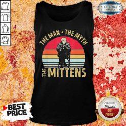 Amused Bernie Sanders Meme The Man 8 The Myth The Mittens Vintage Retro Tank Top - Design by Soyatees.com