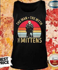Amused Bernie Sanders Meme The Man 8 The Myth The Mittens Vintage Retro Tank Top - Design by Soyatees.com