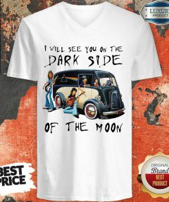 Amused The Dark Side Of The Moon 1 V-neck
