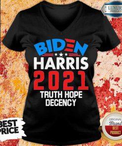 AngryBiden Harris 2021 Truth Hope V-neck