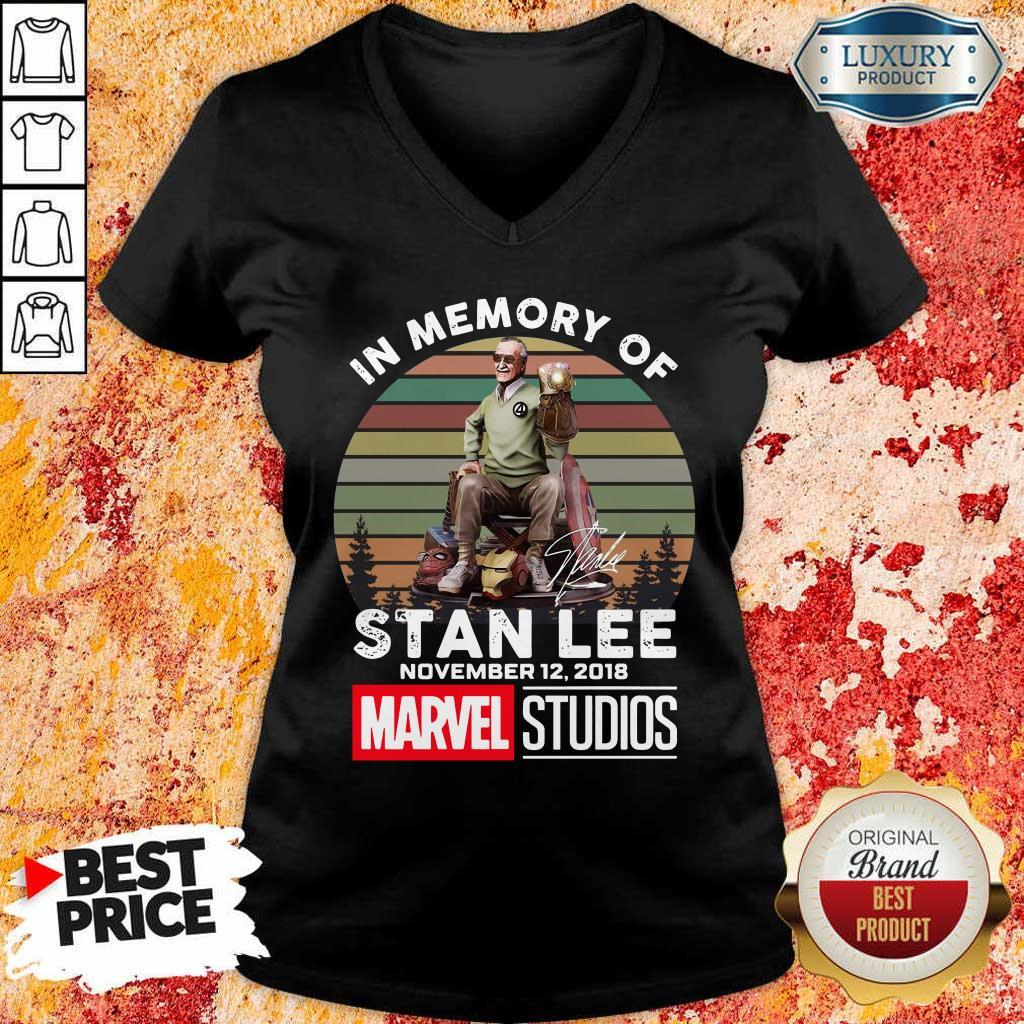 Angry Memory Of Stan Lee November 12 2018 Marvel V-neck