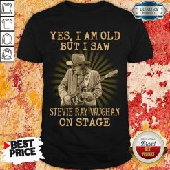 AngrySaw Stevie Ray Vaughan On Stage 1 Shirt