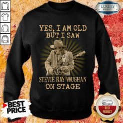 AngrySaw Stevie Ray Vaughan On Stage 1 Sweatshirt