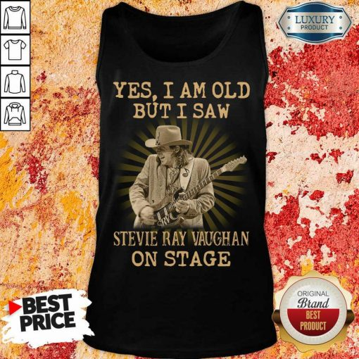 AngrySaw Stevie Ray Vaughan On Stage 1 Tank Top