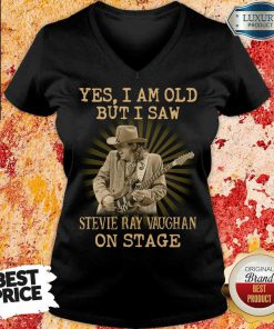 AngrySaw Stevie Ray Vaughan On Stage 1 V-neck