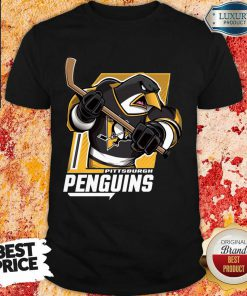 Appalled Cartoon 9 Penguin Playing Hockey Shirt - Design by Soyatees.com