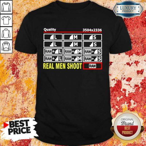 Cross Photographer Quality 5 Real Men Shoot Shirt - Design by Soyatees.com