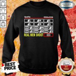 Cross Photographer Quality 5 Real Men Shoot Sweatshirt - Design by Soyatees.com