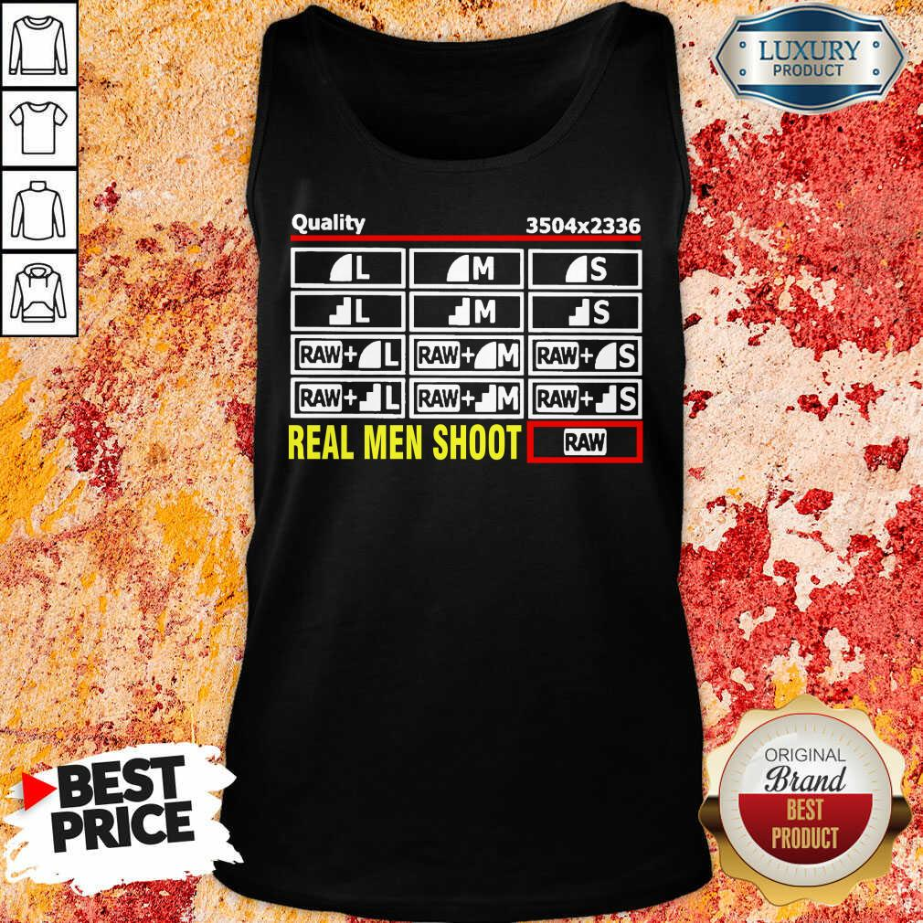 Cross Photographer Quality 5 Real Men Shoot Tank Top - Design by Soyatees.com