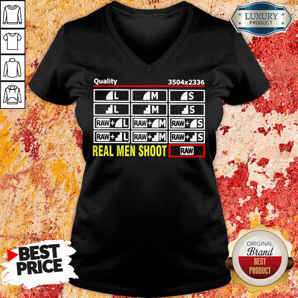Cross Photographer Quality 5 Real Men Shoot V-neck - Design by Soyatees.com