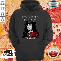 Yes I Am Old But I Saw Alice Cooper On Stage Signature Hoodie - Desisn By Soyatees.com
