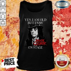 Yes I Am Old But I Saw Alice Cooper On Stage Signature Tank Top - Desisn By Soyatees.com