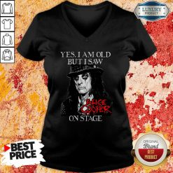 Yes I Am Old But I Saw Alice Cooper On Stage Signature V-neck - Desisn By Soyatees.com