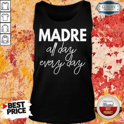 Delighted Mom Life Madre All Day 33 Every Days Tank Top - Design by Soyatees.com