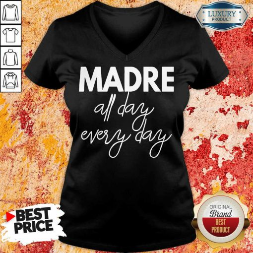 Delighted Mom Life Madre All Day 33 Every Days V-neck - Design by Soyatees.com