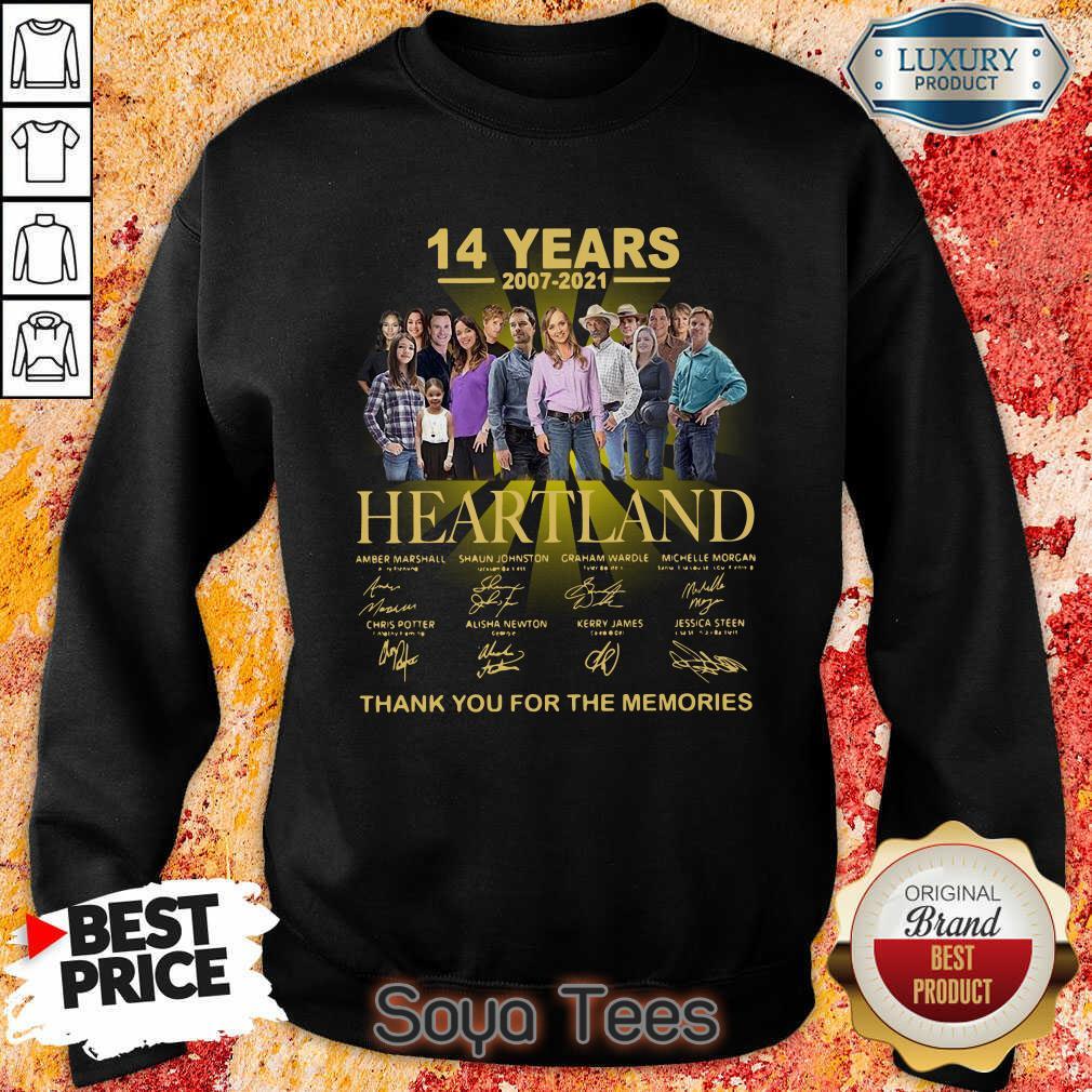 Good Heartland 14 Years 2007 2021 The Memories Sweatshirt