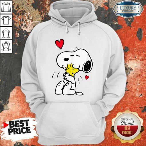 Snoopy Hug Woodstock Valentines Day Hoodie - Desisn By Soyatees.com