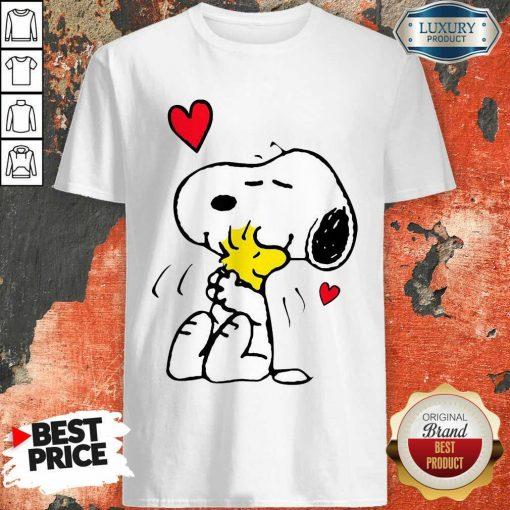 Snoopy Hug Woodstock Valentines Day Shirt - Desisn By Soyatees.com