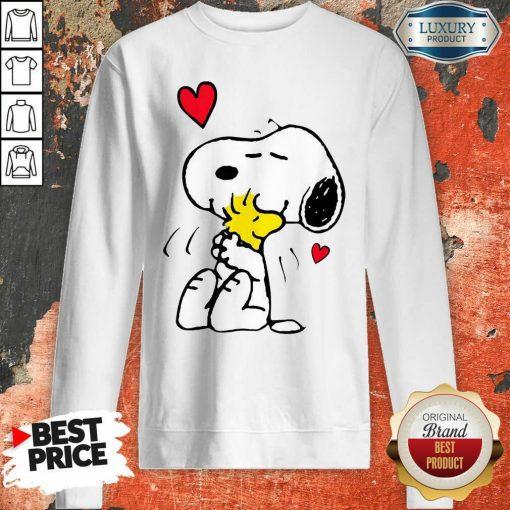 Snoopy Hug Woodstock Valentines Day Sweatshirt - Desisn By Soyatees.com