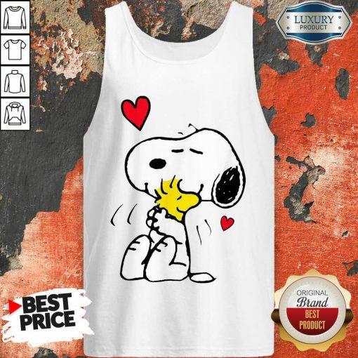 Snoopy Hug Woodstock Valentines Day Tank Top - Desisn By Soyatees.com