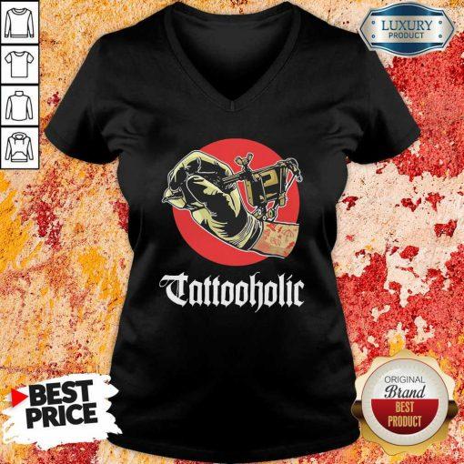 Tattooholic V-neck - Desisn By Soyatees.com