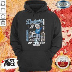 Horrified LA Dodgers World Series Champions 2 Tommy Lasorda Hoodie - Design by Soyatees.com