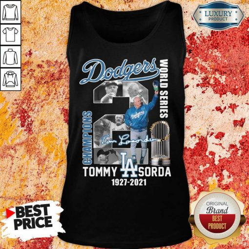 Horrified LA Dodgers World Series Champions 2 Tommy Lasorda Tank Top - Design by Soyatees.com