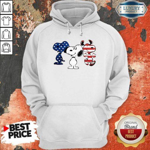 Snoopy American Flag Version Hoodie - Desisn By Soyatees.com