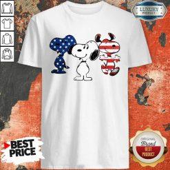 Snoopy American Flag Version Shirt - Desisn By Soyatees.com