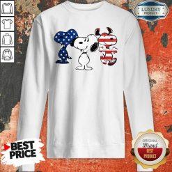 Snoopy American Flag Version Sweatshirt - Desisn By Soyatees.com