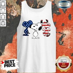 Snoopy American Flag Version Tank Top - Desisn By Soyatees.com