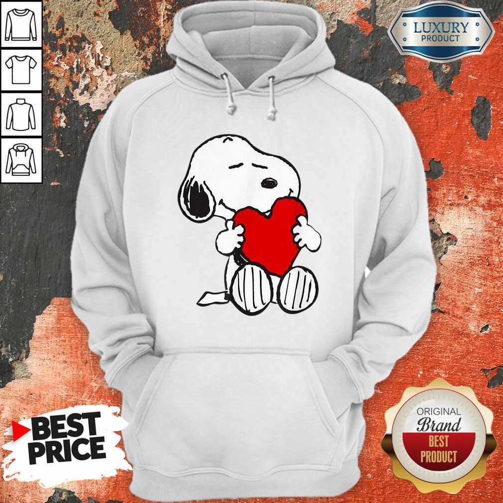 Snoopy Hug Heart Valentines Day Hoodie - Desisn By Soyatees.com