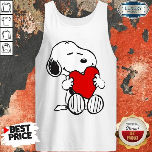 Snoopy Hug Heart Valentines Day Tank Top - Desisn By Soyatees.com